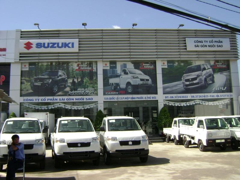 Xưởng sửa chữa rộng rãi, trang thiết bị hiện đại là điểm cộng của Suzuki Sài Gòn Ngôi Sao.
