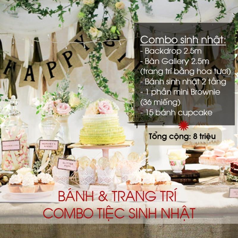 Combo trang trí sinh nhật tại Sweetday