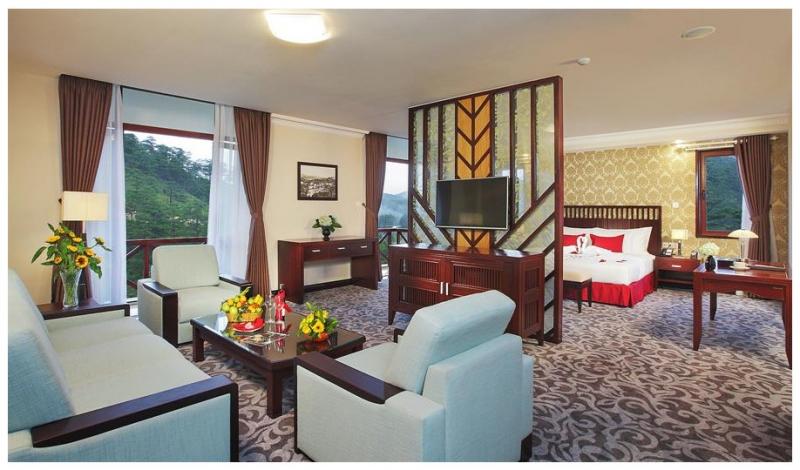 Phòng nghỉ tại Swiss-Belresort Tuyen Lam Dalat