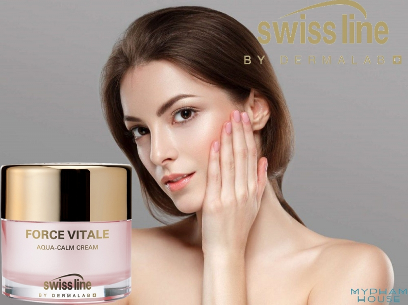 Swissline Force Vitale Aqua - Calm Cream - Kem đặc trị phục hồi da nhạy cảm, dị ứng nổi tiếng tại Thụy Sỹ