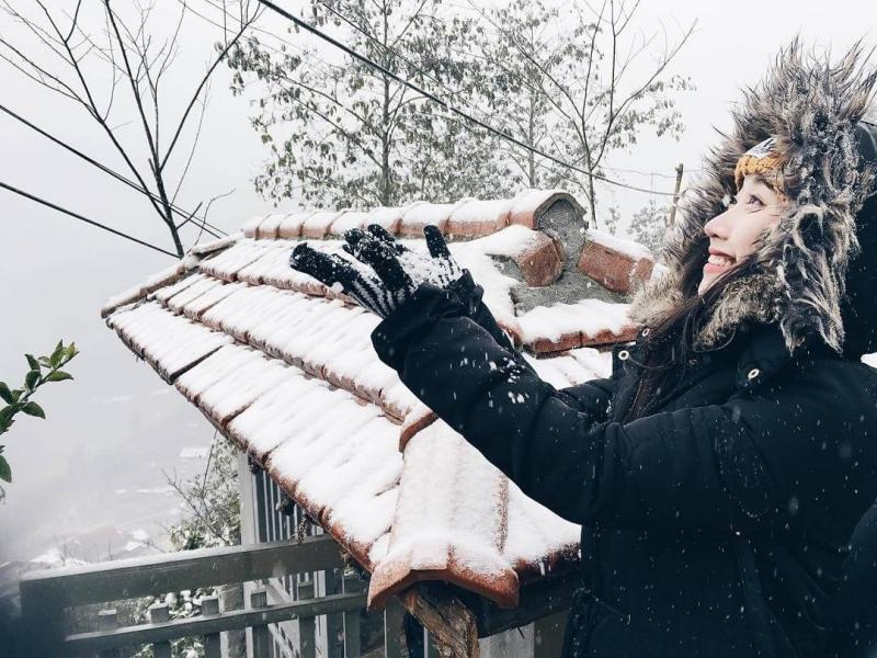 Tả cảnh mùa đông tại nơi em ở