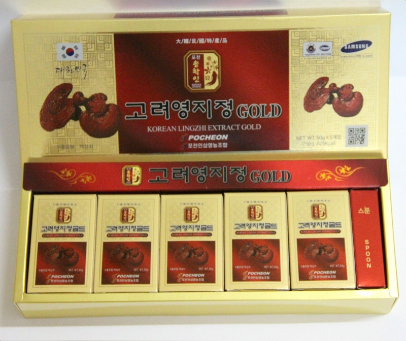 Sản phẩm cao linh chi thượng hạng ở Hàn Quốc.