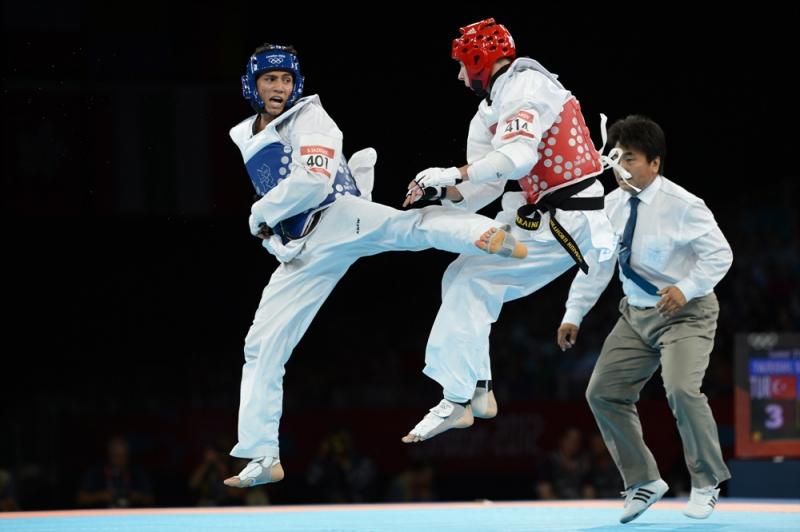 Luyện tập Taekwondo giúp tăng cường sức khỏe.