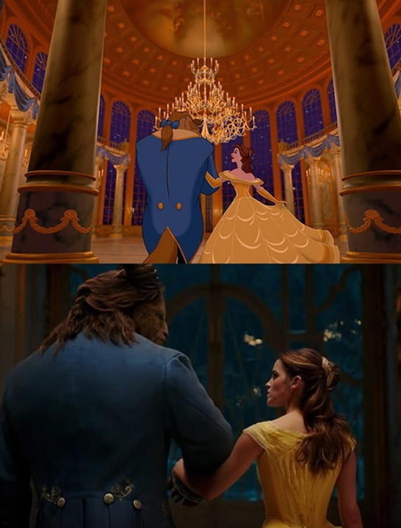 Cảnh Bella và quái vật trong lâu đài