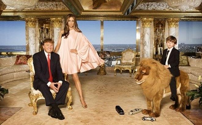 Trump bên vợ và con trai út