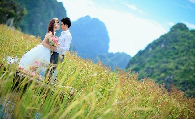 Vẻ đẹp rạng rỡ của cặp đôi được tôn lên nét tự nhiên