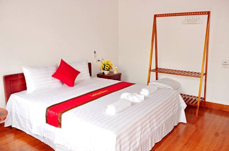 Không gian sống bên trong homestay cũng được trang trí rất đẹp, nhiều phòng để đáp ứng những nhóm bạn, gia đình đông.