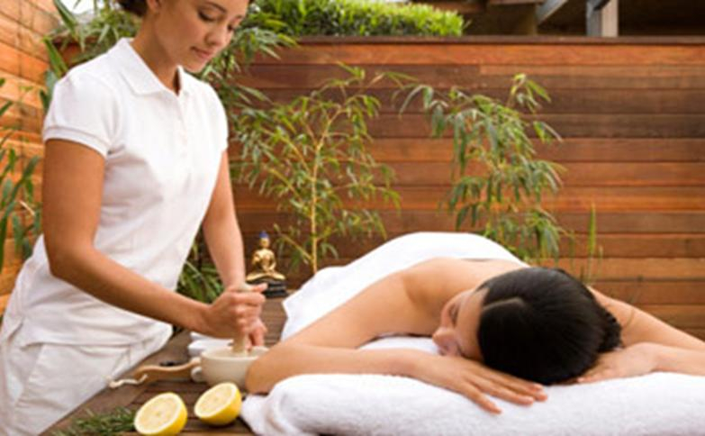 Massage at Geological hot mineral