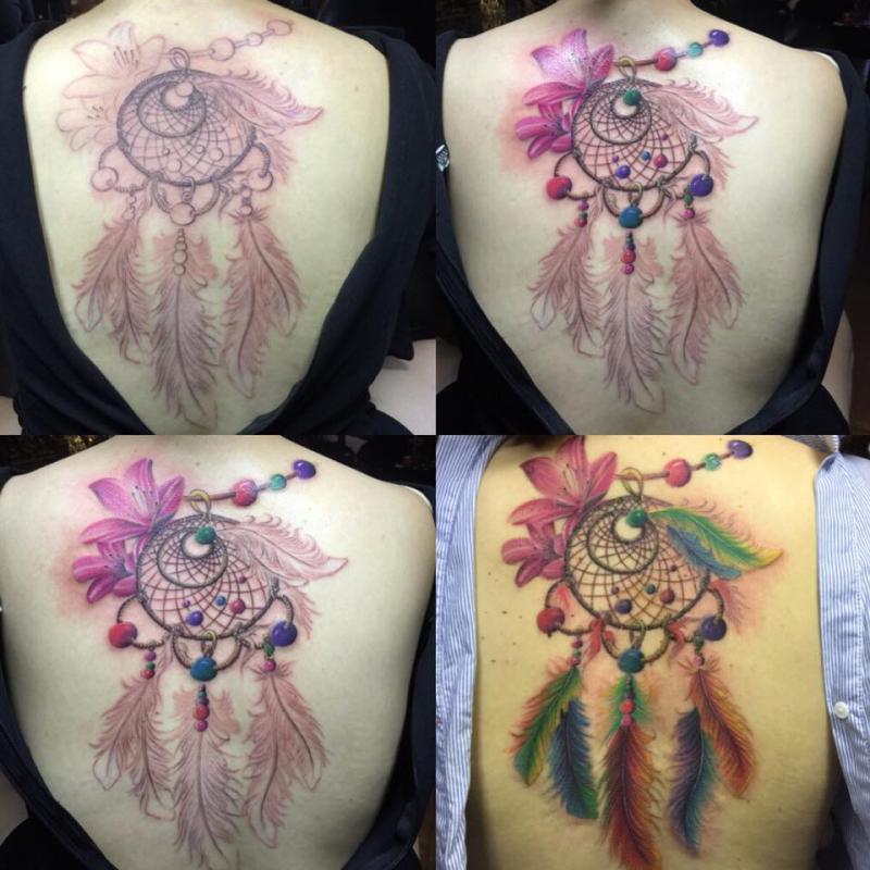 Hình xăm nghệ thuật cho nữ tại Tam Quốc Tatto