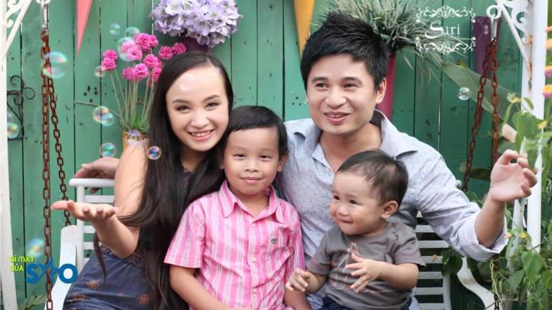 Gia đình ca sĩ Tấn Minh và NSUT Thu Huyền
