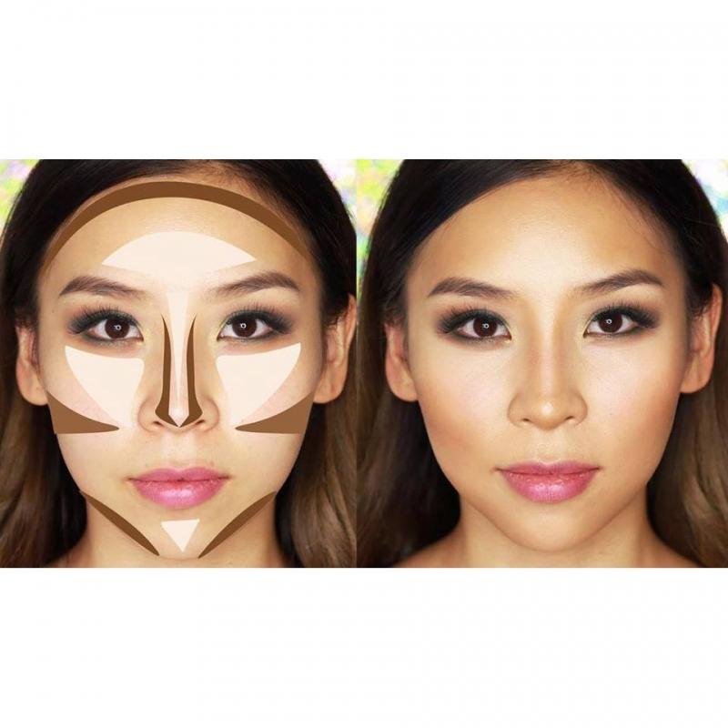Những vị trí cần tạo khối trên gương mặt