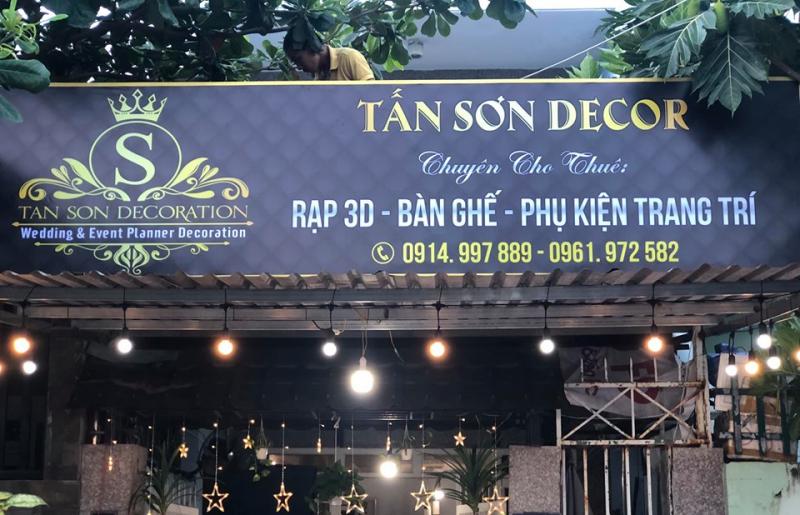 Tấn Sơn Décor là một địa chỉ chuyên cung cấp dịch vụ trang trí tiệc sinh nhật, tiệc cưới, event,..