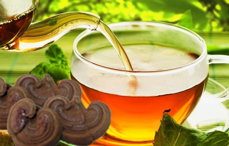 Nấm linh chi dùng để pha trà.