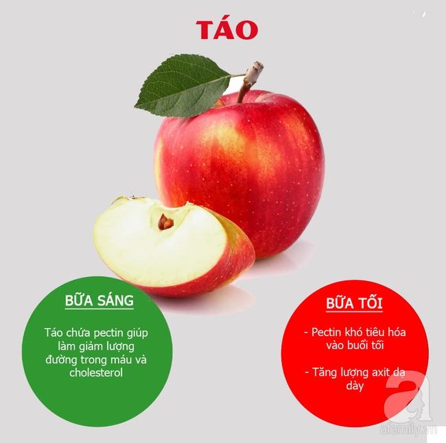 Thời gian nên ăn táo