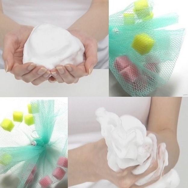 Tạo bọt cho sản phẩm dưỡng da trước khi thoa lên mặt