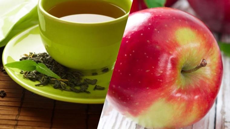 Táo và trà xanh