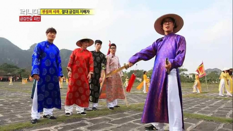 Các thành viên Running man đã mặc trang phục truyền thống của Việt Nam