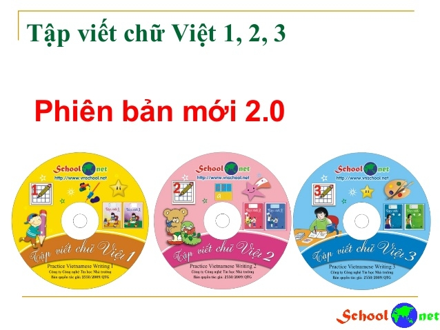 Tập viết chữ Việt 1,2,3