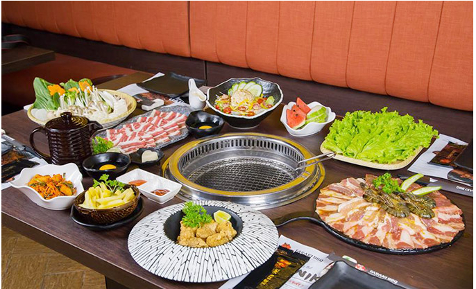 Thực đơn phong phú Tasaki BBQ