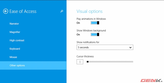 Tắt đi một số hiệu ứng trên Windows
