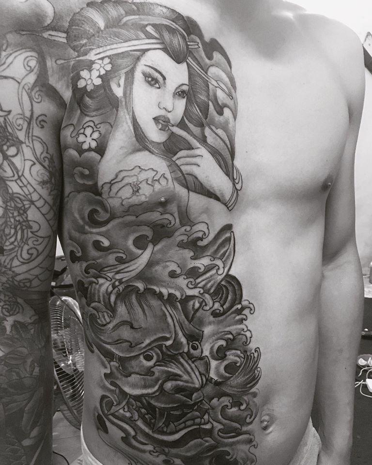 Một trong các tác phẩm của Tattoo & Piercing Tuấn Bẻm.