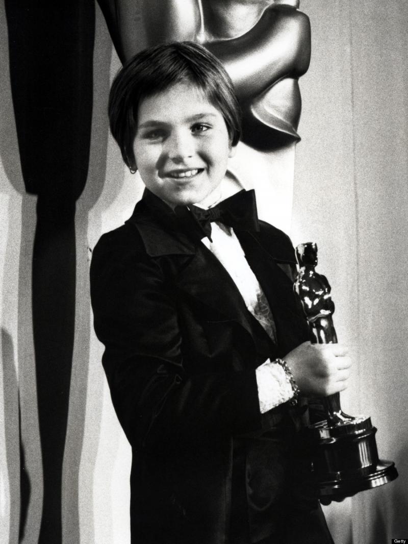 Tatum O'Neal khi giành giải Oscar.