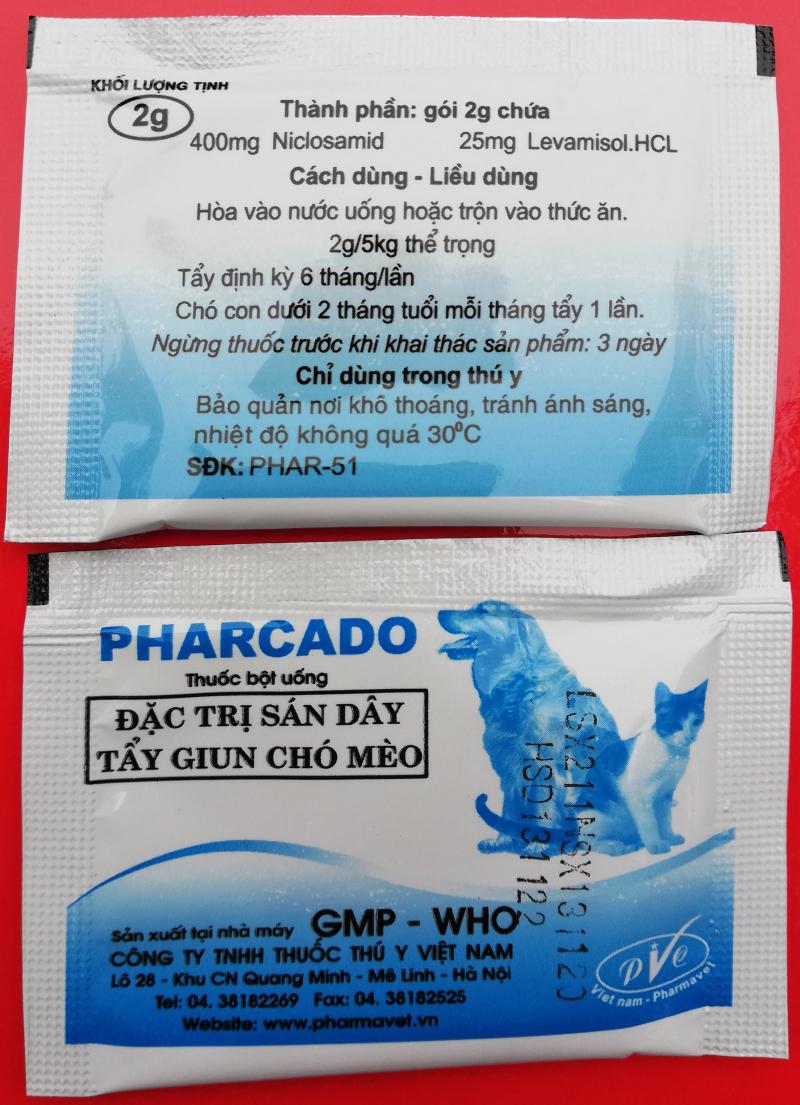 Tẩy giun Pharcado