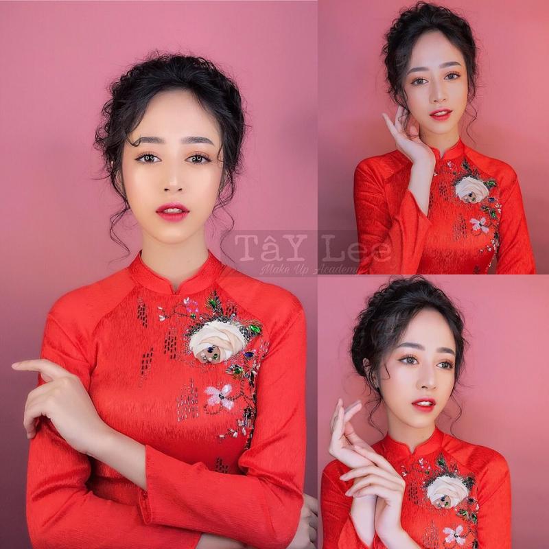Bên cạnh cho thuê áo dài cưới hỏi thì Tây Lee Studio còn có dịch vụ makeup cho cô dâu