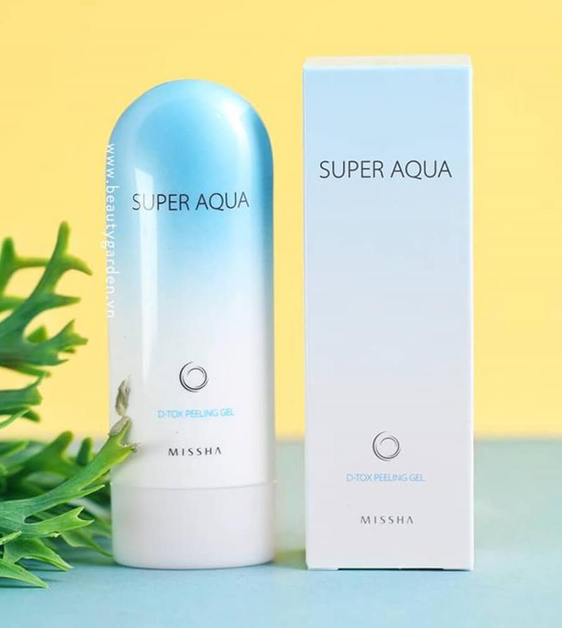 Tẩy tế bào chế Missha Super Aqua D - tox Pelling Gel