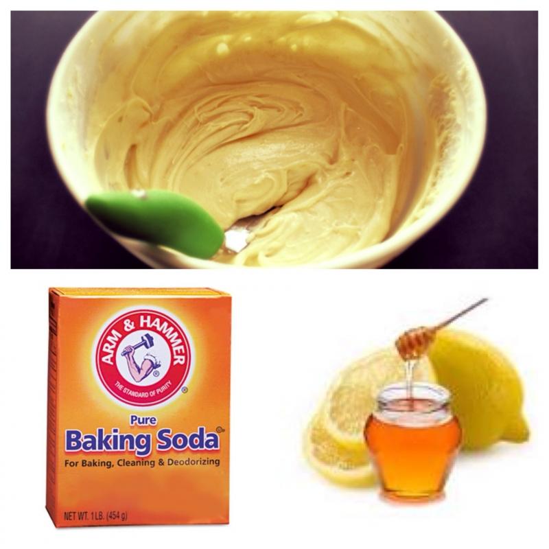 Sử dụng mật ong và Baking soda để tẩy da chết cho môi