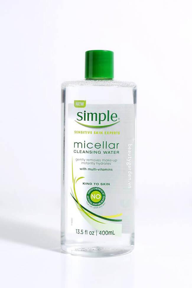 Tẩy trang cho da nhạy cảm Simple Micellar Cleansing Water