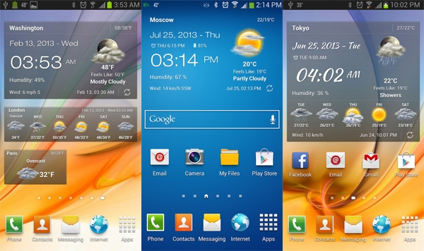 Transparent Clock & Weather (TCW) có giao diện tuyệt đẹp