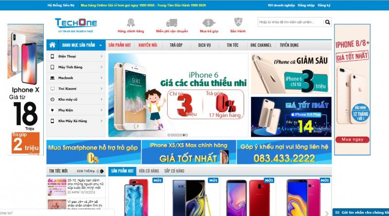 Website chính thức của Techone