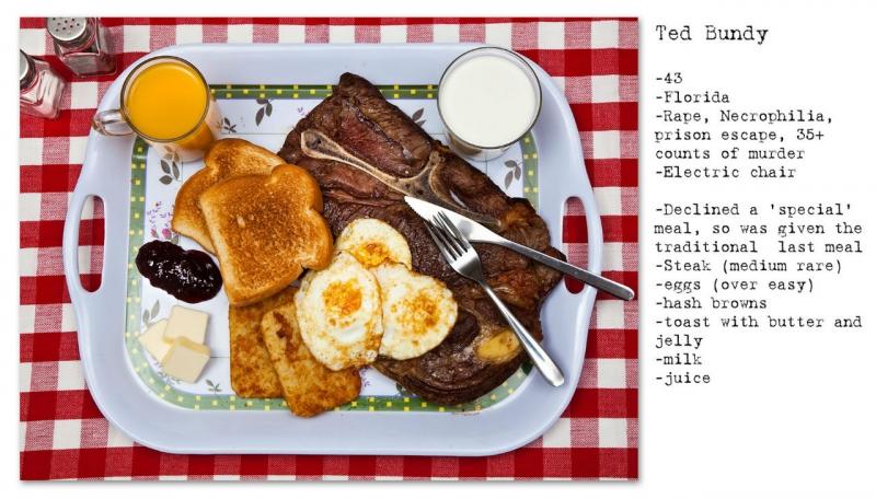 Bữa ăn cuối cùng của Ted Bundy do cai ngục chuẩn bị