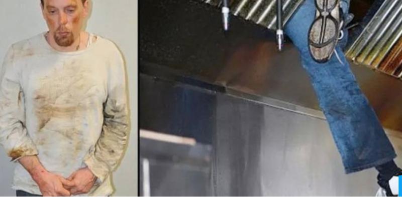 Tên trộm đột nhập vào nhà bếp bằng ống thoát gió