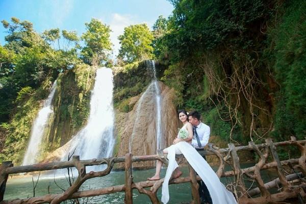 Thác Dải Yếm - khung cảnh tuyệt vời cho bạn trải nghiệm album cưới của mình
