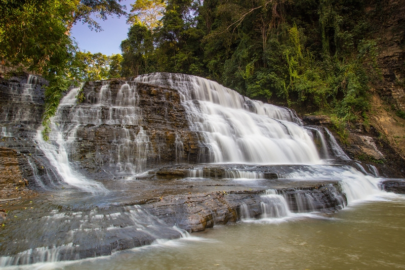 Thuy Tien Waterfall - hair stream in the middle of the great green
