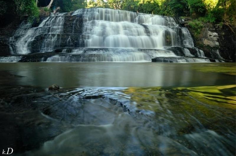 Một tầng thác của thác Thủy Tiên