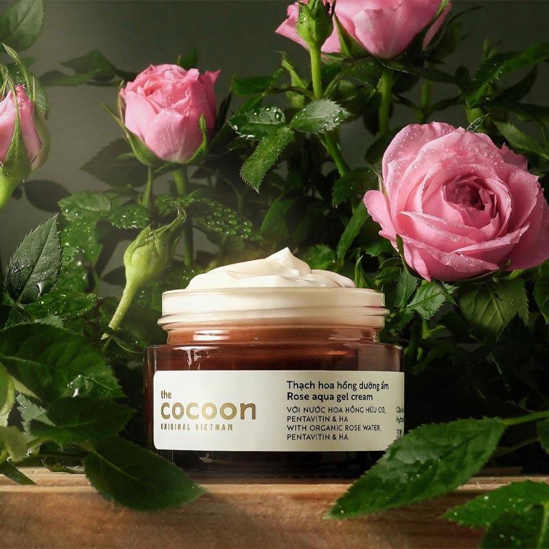 Thạch hoa hồng dưỡng ẩm (kem dưỡng ẩm) Cocoon cấp ẩm & nuôi dưỡng 30ml