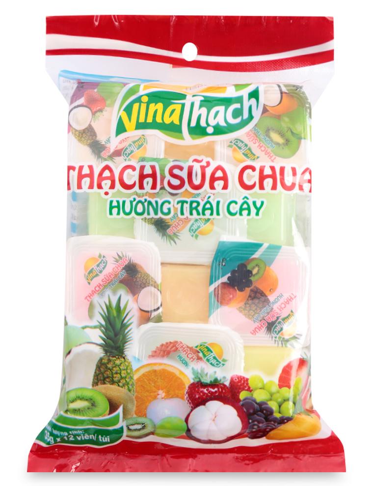 Thạch sữa chua hương trái cây thương hiệu Vina Thạch