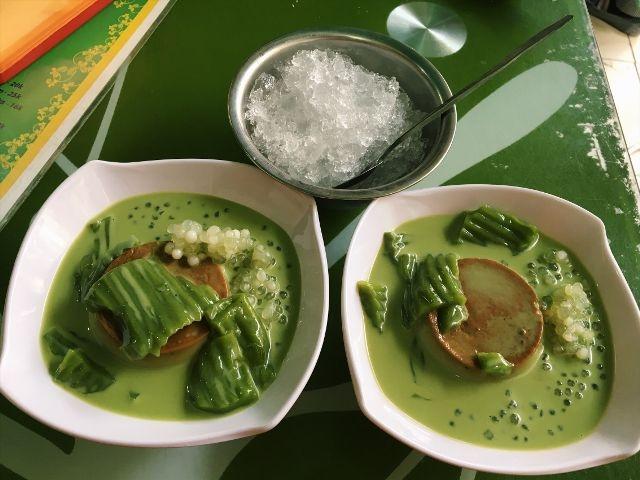 Thạch rau câu trà xanh caramen - Ngọc Thạch Quán