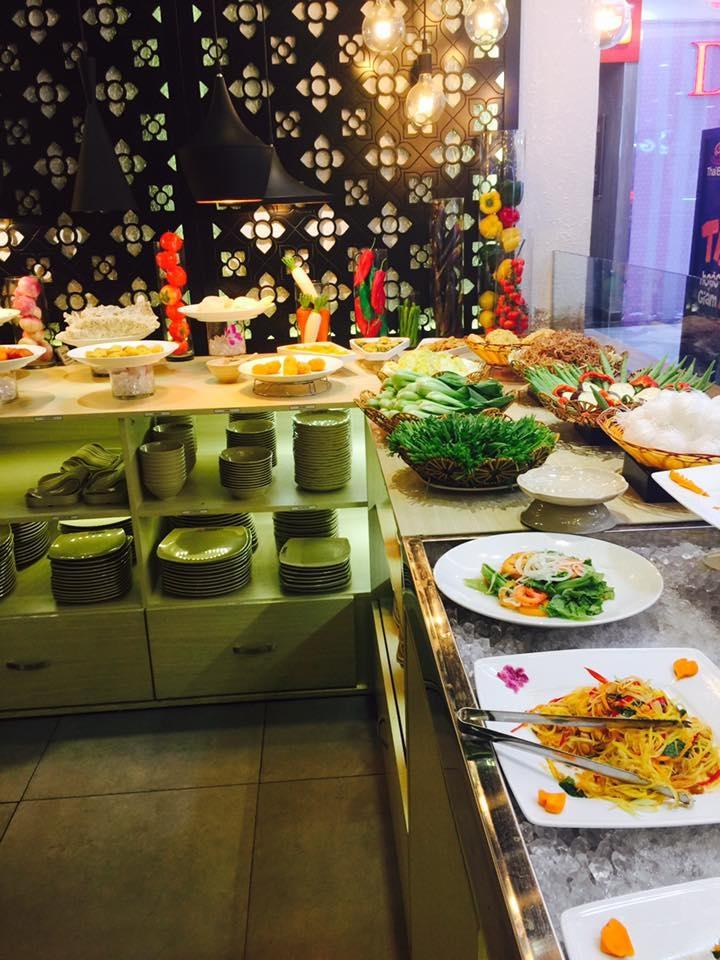 Không gian sang trọng của nhà hàng Thaibbq- Buffet nướng và lẩu Cần Thơ.