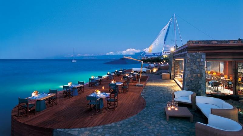 Thalassa Waterfront Restaurant, In Elounda, Crete, Hy Lạp