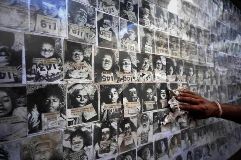 Đài tưởng niệm những nạn nhân xấu số trong thảm họa rò rỉ khí độc ở Bhopal