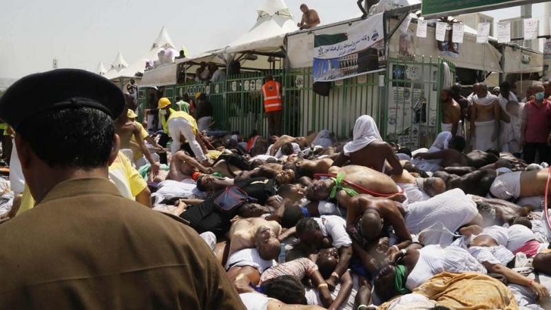 Thi thể người chết tại thảm kịch trong lễ hành hương tại thánh địa Mecca năm 2015