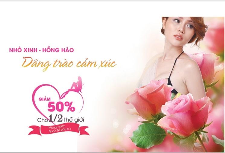 Tại Thẩm mỹ Rio Beauty Clinic hàng tháng luôn có những chương trình khuyến mại hấp dẫn