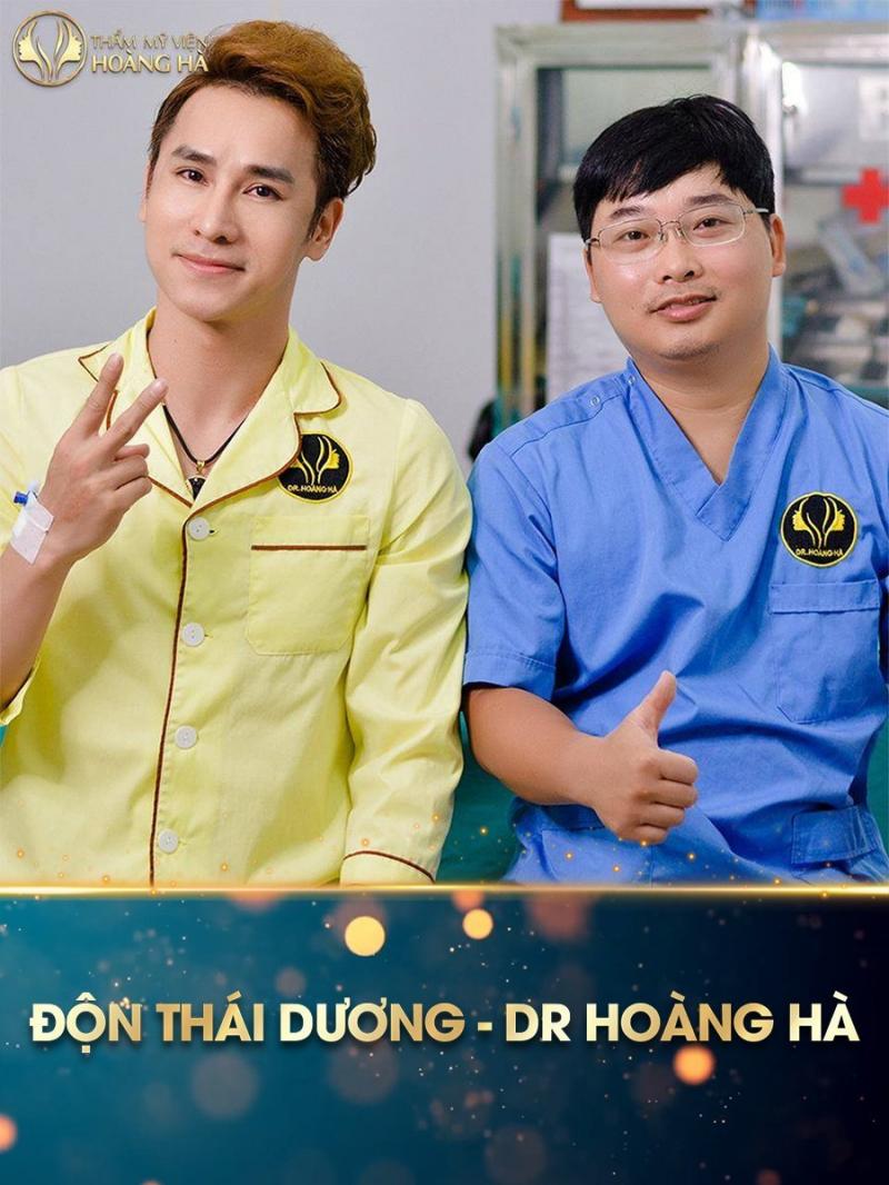 Khách hàng Ca sĩ Chu Bin sau 60p phút thực hiện độn thái dương tại Dr Hoàng Hà