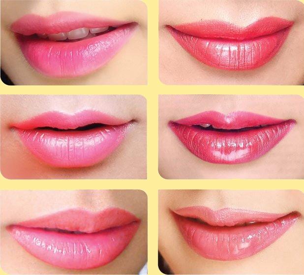 Những màu môi quyến rũ sau khi phun xăm