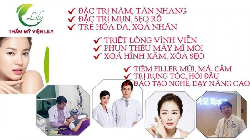 Những dịch vụ hiện có tại thẩm mỹ viện Lily Ninh Bình