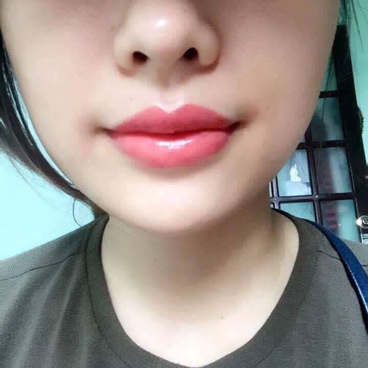 Bờ môi quyến rũ sau khi xăm môi